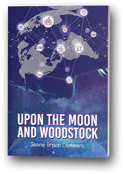 Upon the moon and woodstock - book mockup